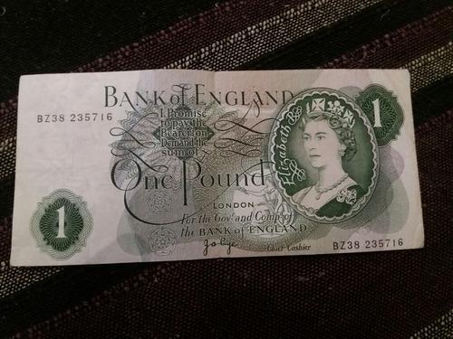 billete gran bretaña one pound (c-9-8)