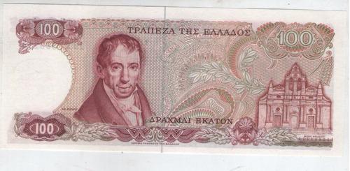 billete grecia 100 dracmas 1978 pick 200  s/c