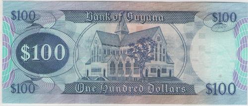 billete guyana 100 dolares 1989 pick 28 s/c