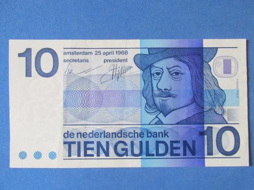 billete holanda 10 tien gulden año 1968 muy escaso