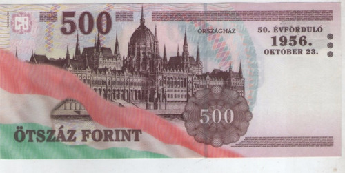 billete hungria 500 forint 2006 pick 194  s/c