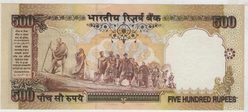 billete india 500 rupees 1997 gandhi pick 92  s/c
