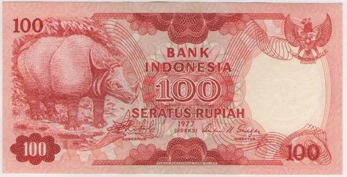 billete indonesia 100 rupias 1977 pick 116  s/c