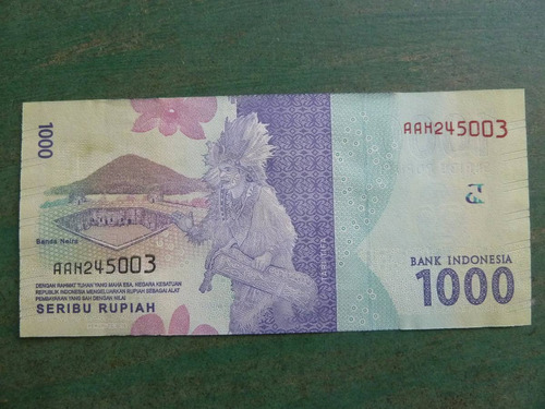 billete indonesia 1000 rupias  2016 sin circular   - vp