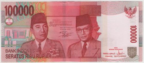 billete indonesia 100000 rupias 2004 pick 146a  s/c