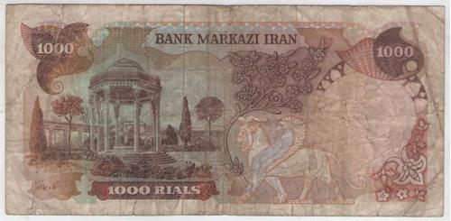 billete iran 1000 rials 1974-79 pick 105d  b+