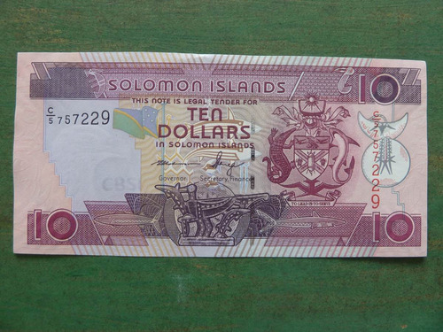 billete islas salomon / solomon 10 dolar 2011  - vp