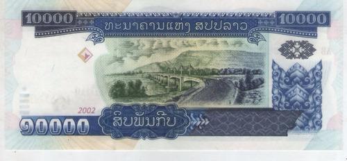 billete  laos 10000  kip 2002 pick 35  s/c