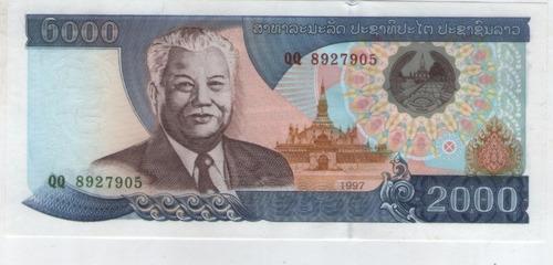 billete  laos 2000  kip 1997  pick 33a  s/c
