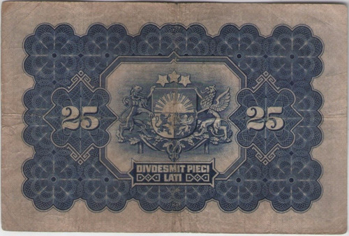 billete  latvia 25 latu  1928 pick 18a mb