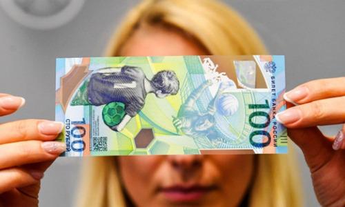 billete mundial rusia 2018 fifa 100 rublos - original