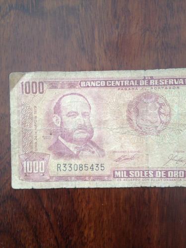 billete perú antiguo año 1973 / mil soles de oro.