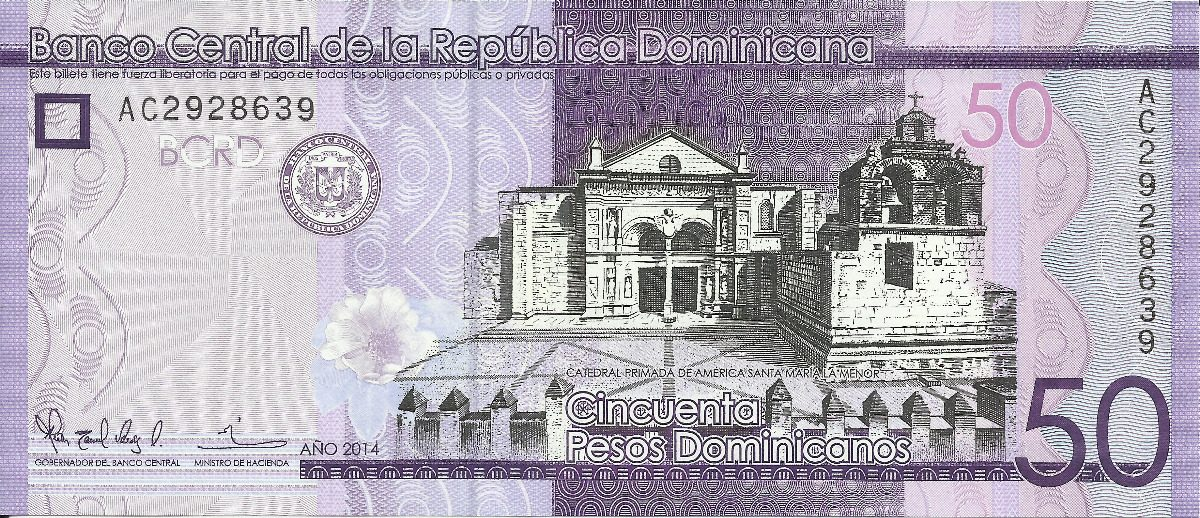 Image result for billete de 50 pesos dominicanos