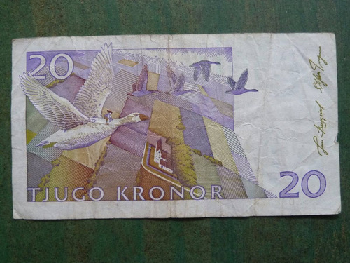 billete suecia 20 kronor - coronas - vp