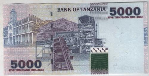 billete tanzania 5000 shilingi  pick 38 s/c
