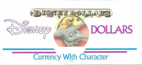 billete u$ 1 disney dolar sin circular con sobre palermo