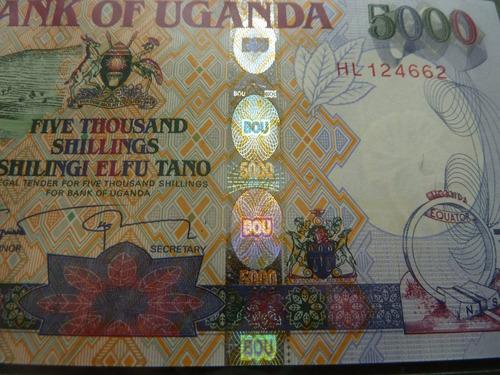 billete uganda 5000 shillings 2009 - vp