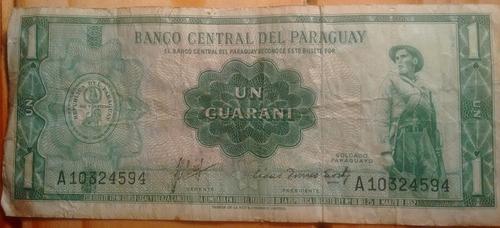 billete un guarani serie a - paraguay