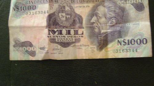 billete uruguay moneda