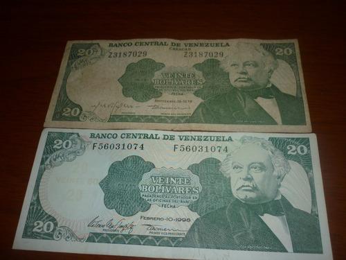 billete venezolano año