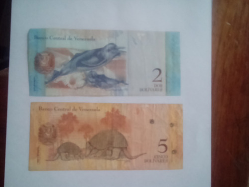 billete venezuela: 02 billetes bolívares  (2007 al 2008)