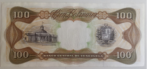 billete venezuela 100 bolívares mayo 12 1992 a8 unc