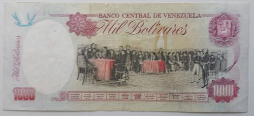billete venezuela 1000 bolívares agosto 6 1998 n9 au