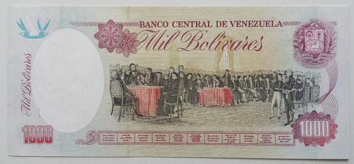 billete venezuela 1000 bolívares febrero 5 1998 m9 unc