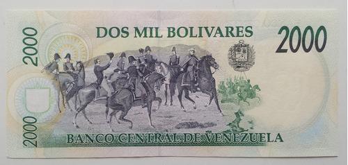 billete venezuela 2000 bs agosto 6 1998 d8 unc
