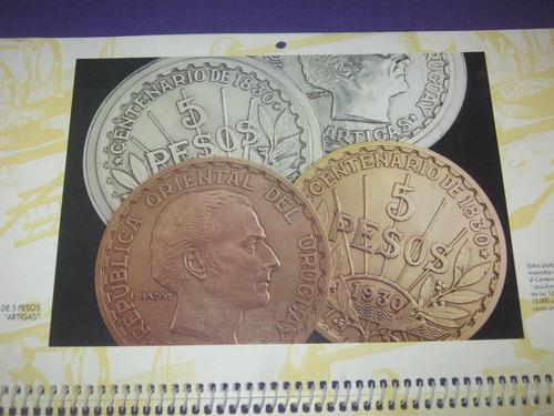 billete y moneda uruguay almanaque del banco república