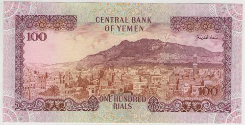 billete  yemen 100 rials 1993  pick 28  s/c
