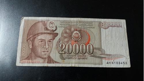 billete yuguslavia 20 mil dinara  1987 (c23_3