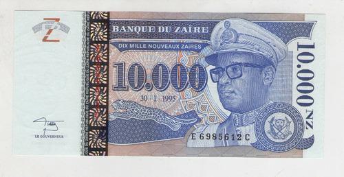 billete zaire 10000 n zaire  1995  pick 70  s/c