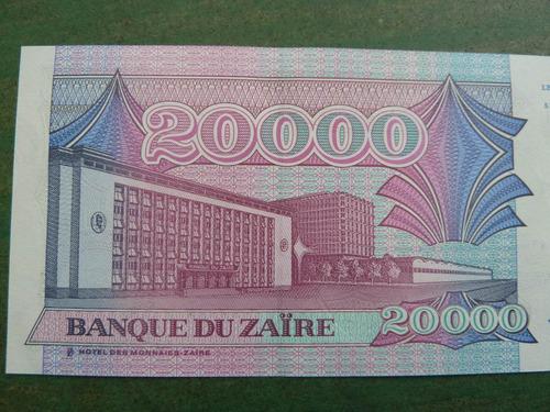 billete zaire  20.000 zaires 1991 - vp