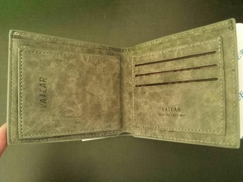 billetera 100% cuero para hombres