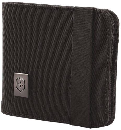 billetera 2 secciones - victorinox - accesorios 4.0 - negro
