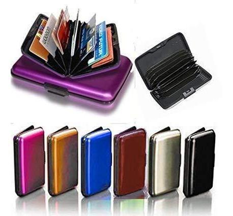 billetera aluminio aluma wallet resiste tarjetero