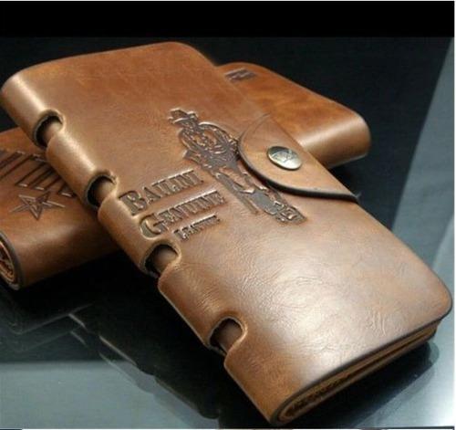 billetera bailini de cuero  - tamaño extendido