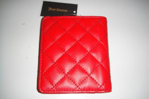 billetera bifold juice couture rojo original( 817 )