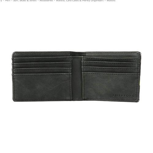 billetera billabong tides wallet black hombre