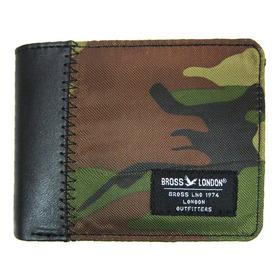 Billetera Bross Brs-6026 Hombre Pu+textil