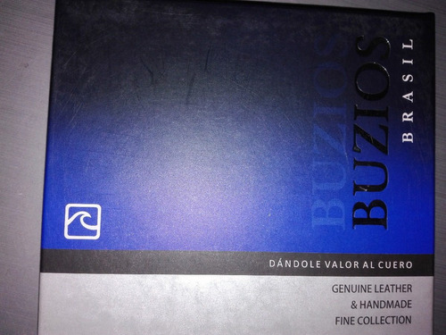 billetera buzios original 100% cuero natural