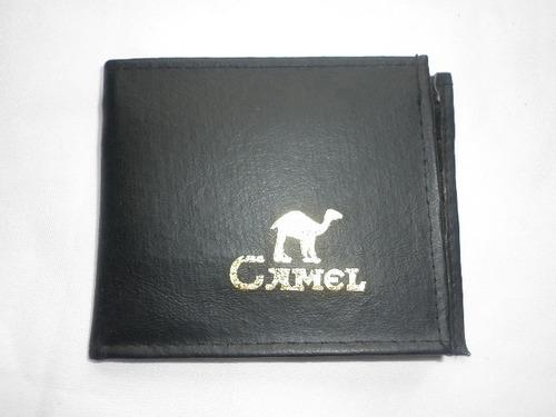 billetera camel simil cuerocon divisiones y cierres