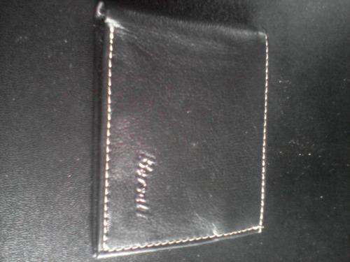 billetera cartera tarjetero para caballero de cuero  bersal