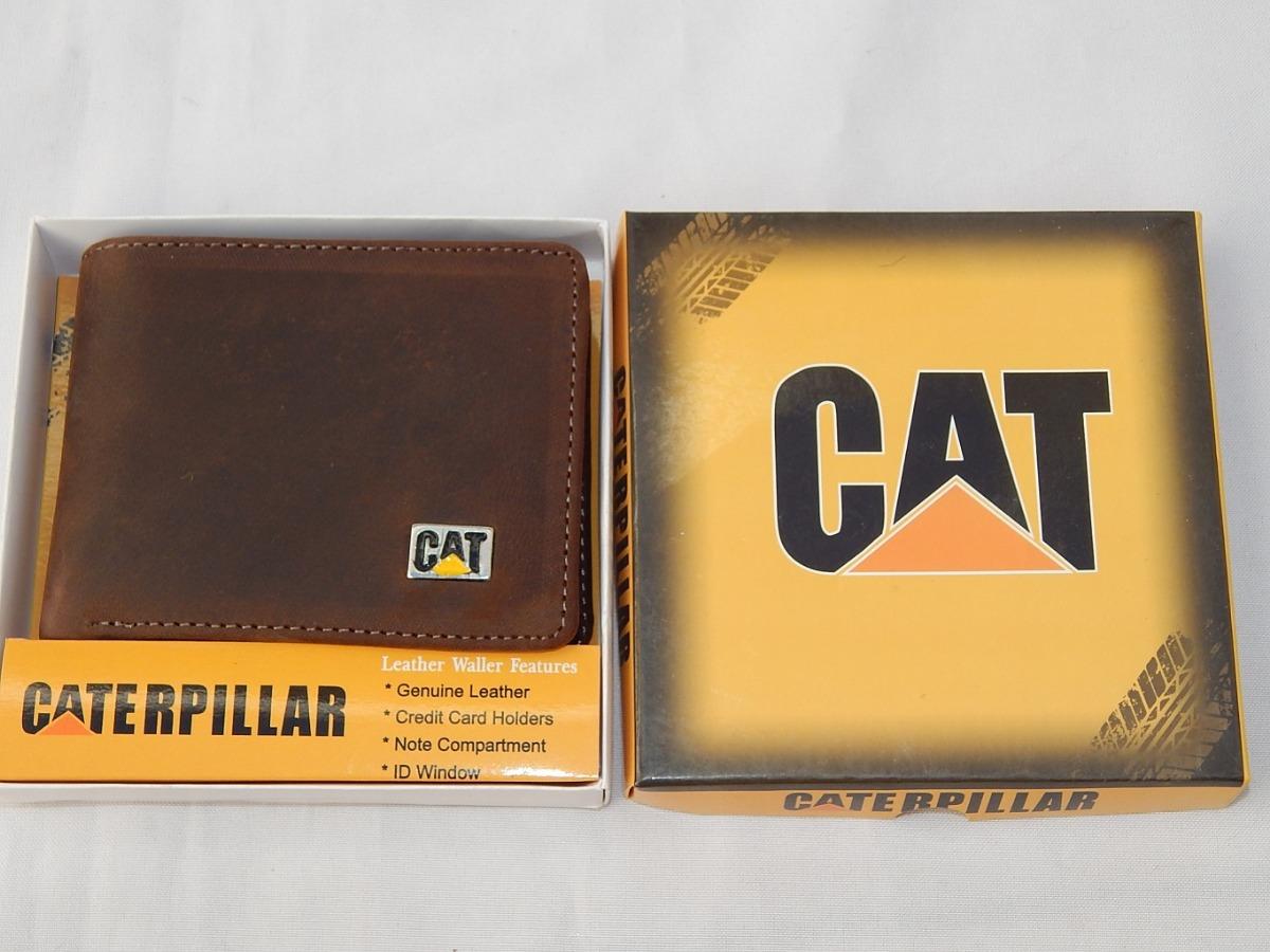 130d2c0f0 Billetera Caterpillar De Cuero Rustico Marron Oscuro - $ 560,00 en ...