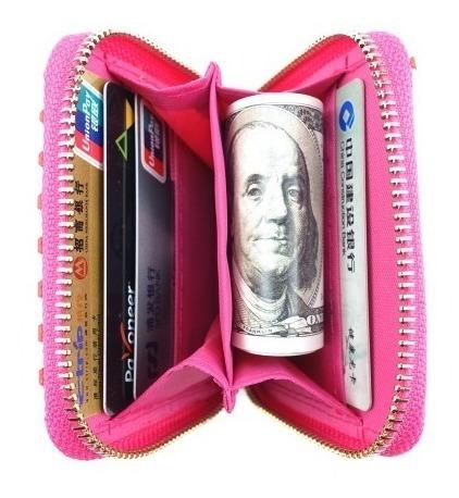 billetera chica con estampado de perritos