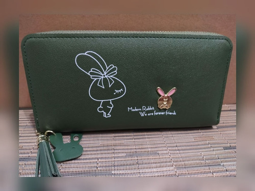 billetera conejo porta celular