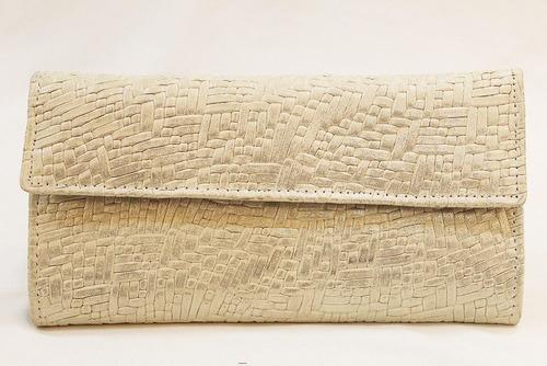 billetera cuero mujer combinada art 1400. marca clau's