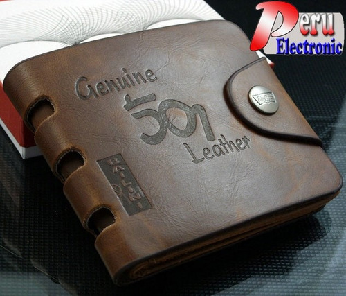 billetera de cuero bailini