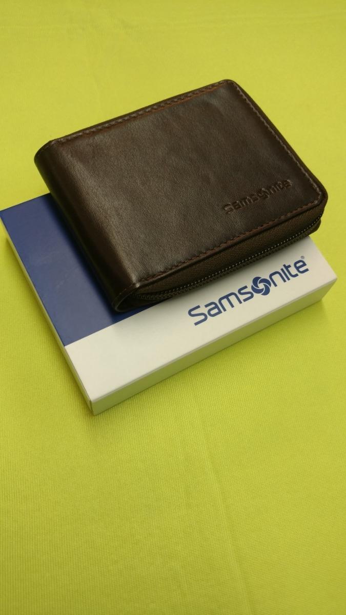 e5366668c billetera de cuero con cierre a cremallera color marron ##. Cargando zoom.